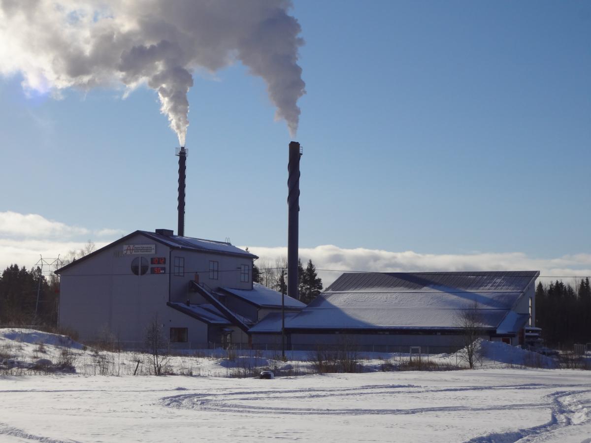 Huvudcentralen av fjärrvärmeverket